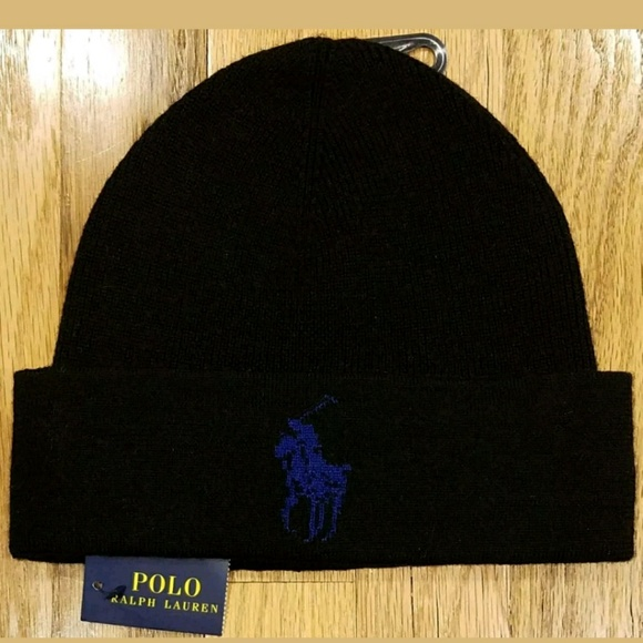 Ralph Lauren Polo Men s Big Pony Logo Wool Beanie 501291d7635f